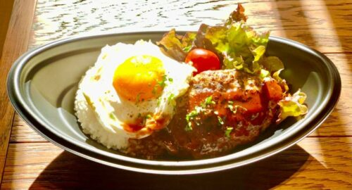 ロコモコ丼(味噌汁付き)
